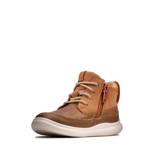 Clarks Girls Cloud Air Toddler Casual Shoes Brown | USA-1362974